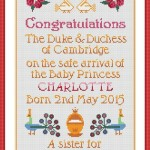A Cross Stitch Souvenir Celebrating the Birth of Princess Charlotte