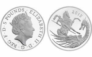 George and the Dragon Coin Issued to Celebrate Prince George's Second Birthday