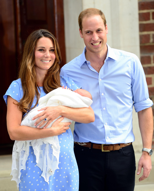 The Duke and Duchess of Cambridge present Baby Cambridge